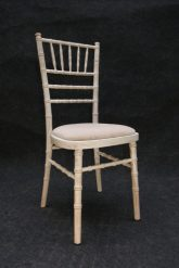 Chivary limewash chair with ivory cushion