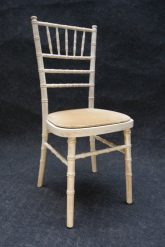 Chivary limewash chair with sand cushion