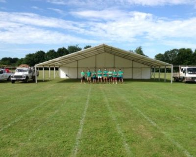 Framed Marquee 15m wide.