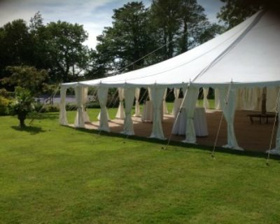 Traditional Style Marquee with ivory drapes