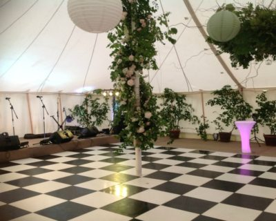 black and white dance floor canvas marquee