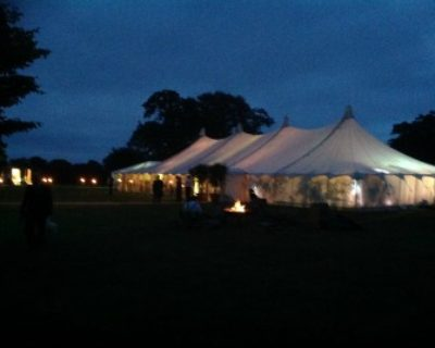 canvas marquee at night
