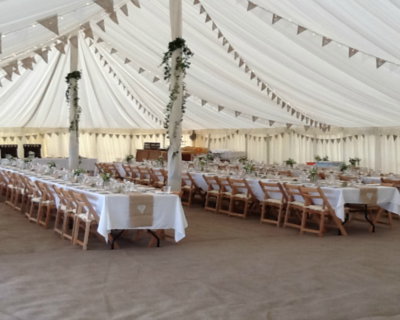 coir style carpet in vintage marquee
