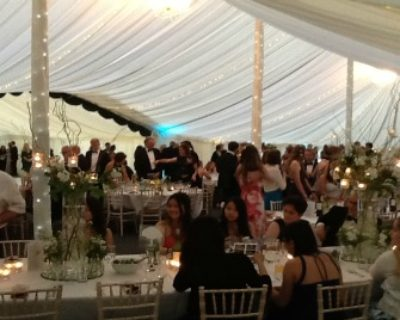 guests in ball marquee