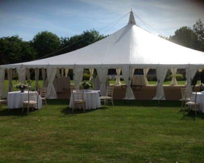marquee with outside seating