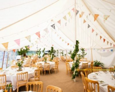 traditional vintage marquee with bunting