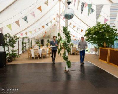 wedding marquee vintage interior