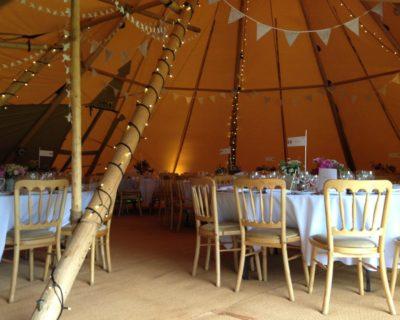 wedding tipi interior