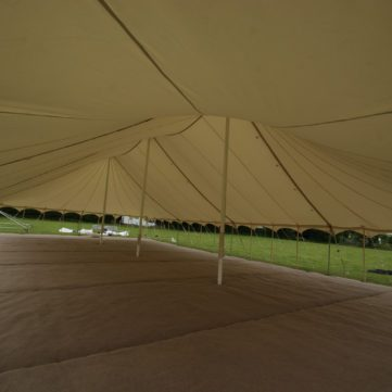 Canvas traditional marquee with no sides on