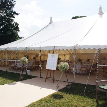 Tradtional style marquee country wedding