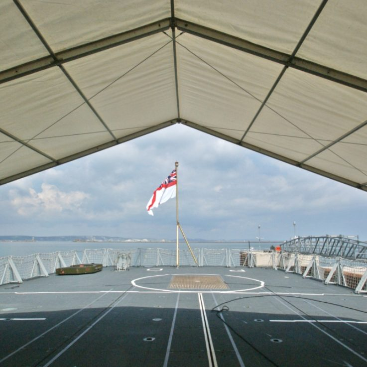 clear span marquee on frigate