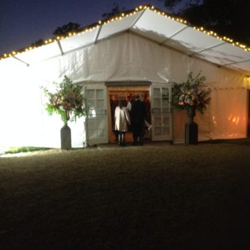 entrance marquee with awning