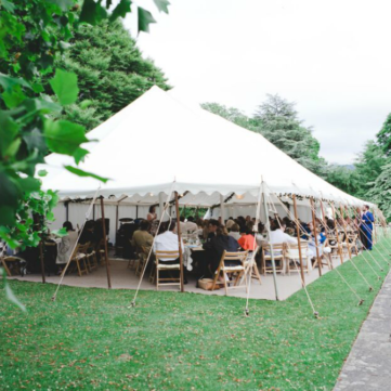 outside-of-wedding-marquee-at-royal-botanical-gardens- & Traditional Marquee Hire in Somerset | South West Marquees