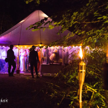 traditional marquee coloured lighting somerset