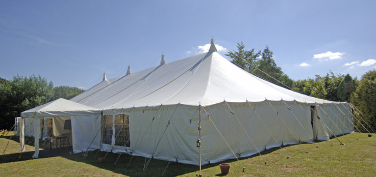 traditional style marquee with entrance porch