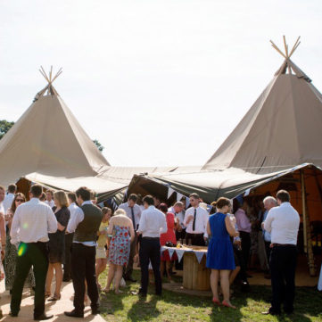 wedding-guests-outside-tipi