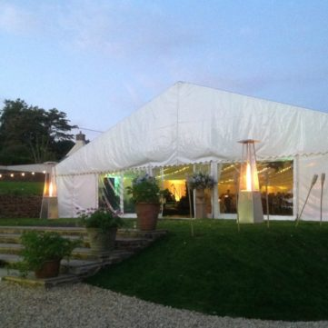 15m frame marquee entrance