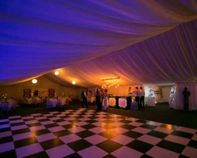 New Years Party in frame marquee