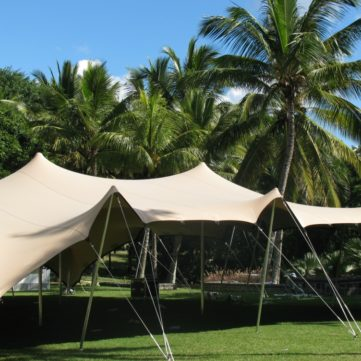 Bedouin Stretch Tent in fawn