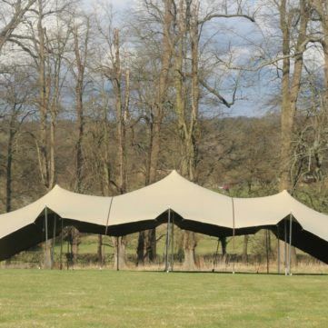 Floating Stretch Marquee with corners down