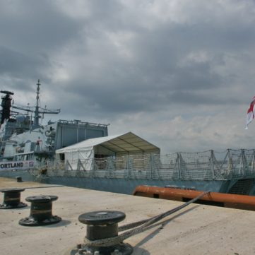 hms portland with southwest marquee