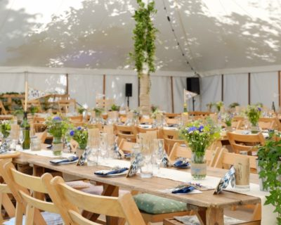 marquee with greenery