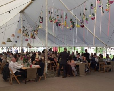 traditional marquee hanging lanterns