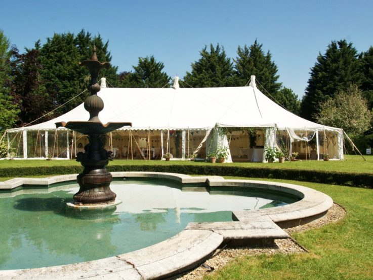 Traditional Marquee in Beautiful Garden