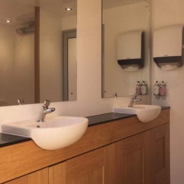 Luxury toilet basin