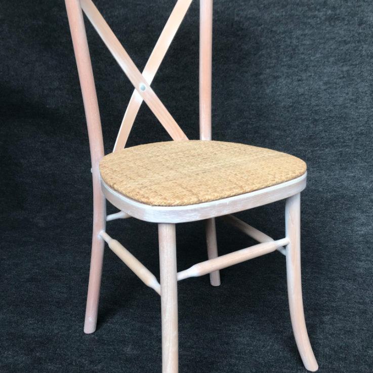 Cross back Limewash Chair
