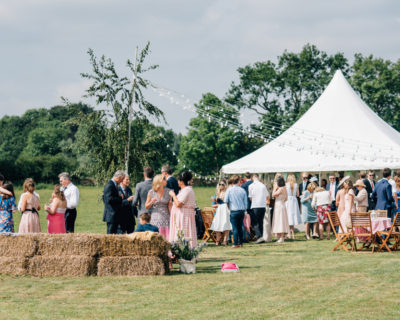 Straw Bales And Country Marquee