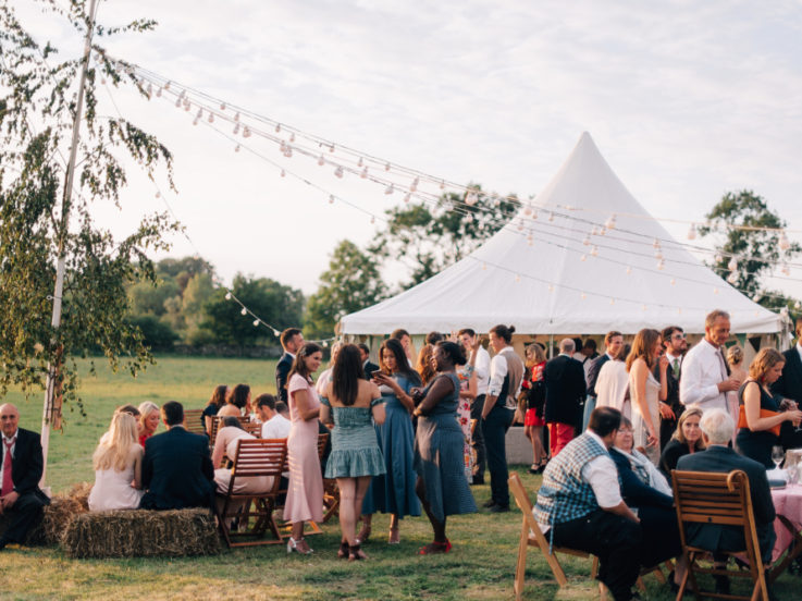 Wedding Guests outside