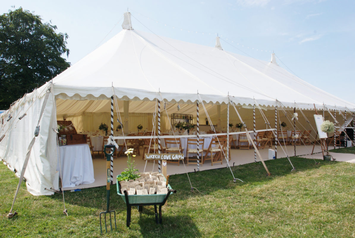 South West Marquees - Canvas Effect Traditional