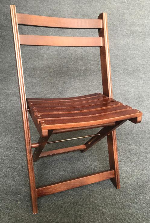 wooden folding chair dark antique
