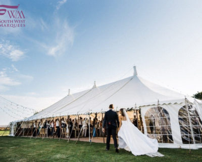 Bride and Groom wedding marquee