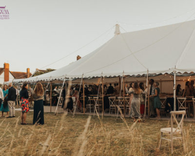Traditional Marquee with windows rolled up