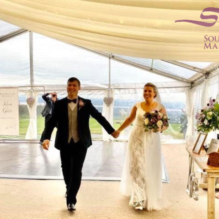 glass roof effect marquee