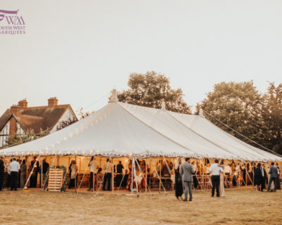 traditional marquee with no walls