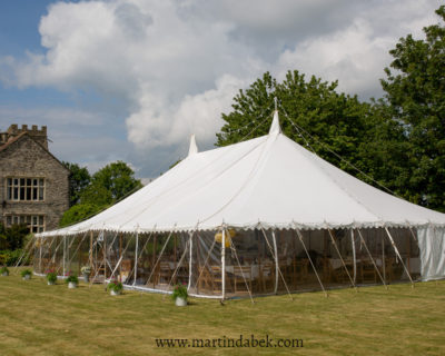 traditional marquee with panoramic windows
