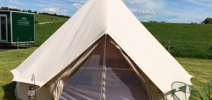 Bell tent at hampsley hollow