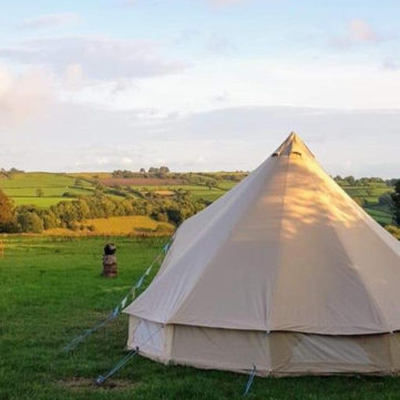 bell tent at wedding