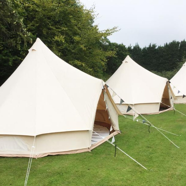 bell tents for wedding guests