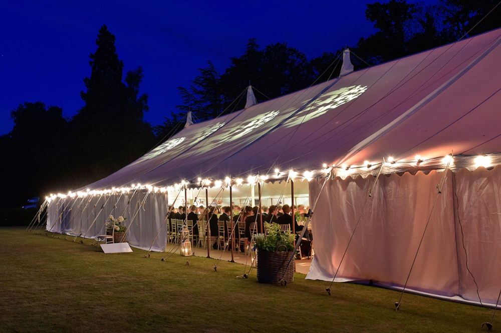 Beautiful View Of The Marquee At Night