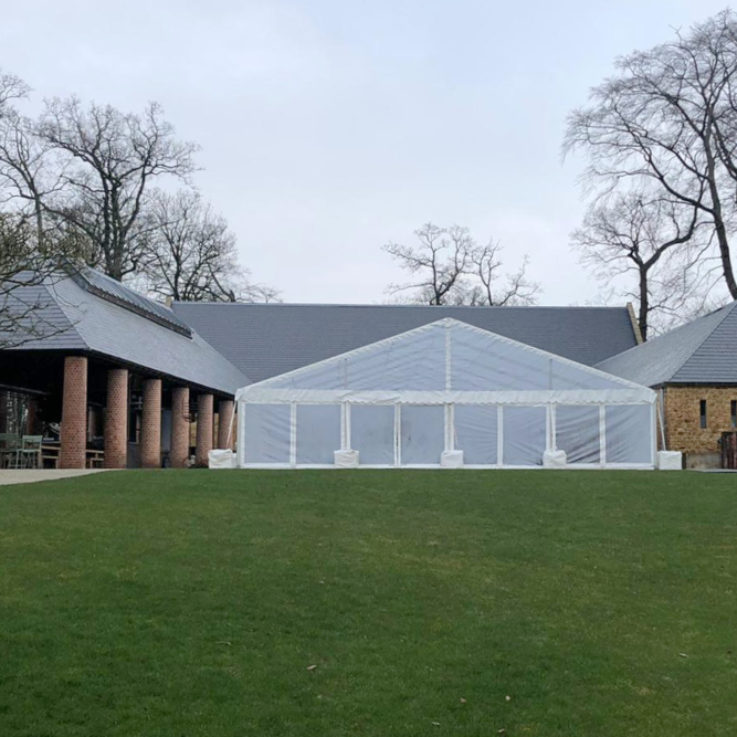 glass effect marquee at the Newt